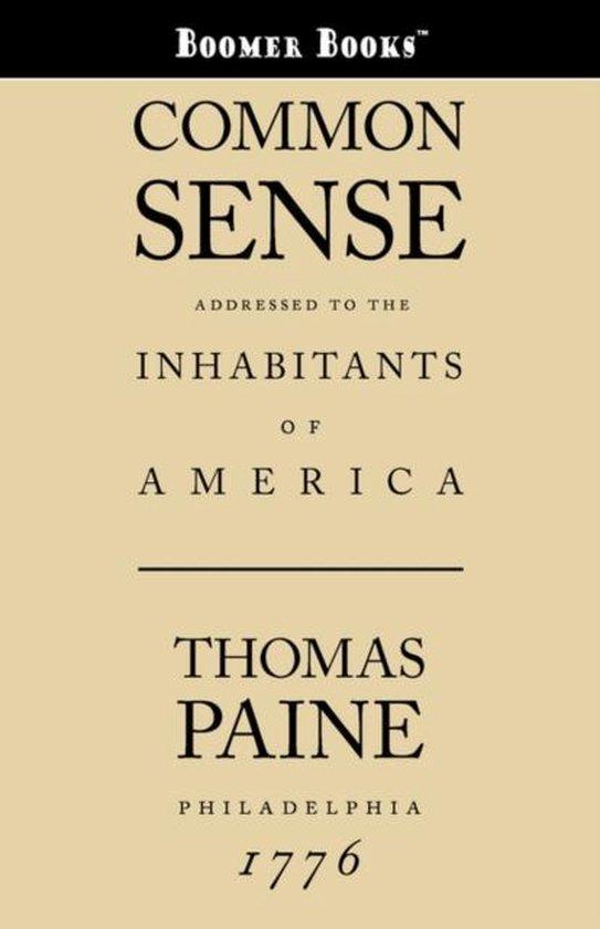 Boek cover Common Sense van Thomas Paine (Paperback)