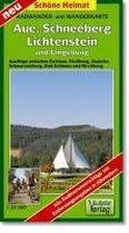 Aue, Schneeberg Lichtenstein und Umgebung 1 : 35 000 / 1 : 50 000. Radwander- und Wanderkarte