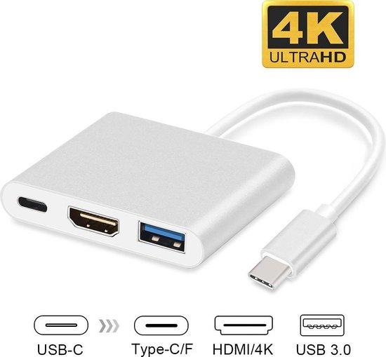 USB-C adapter voor Macbook met USB, HDMI, USB-C