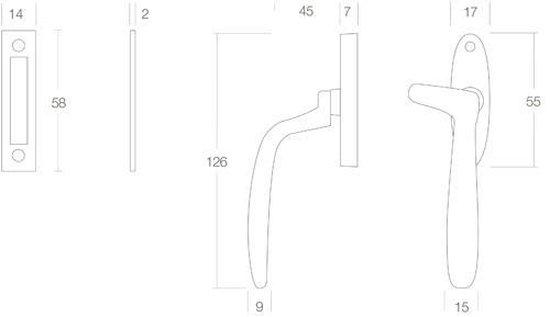 Intersteel Raamsluiting - Dudok rechts - mat zwart - 0023.561550A - Intersteel