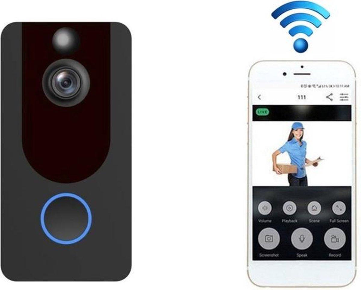 Deurbel Met Camera - WiFi Deurbel - Video Deurbel - Deurbel Draadloos - Slimme Deurbel - Deurbel Met App - Bewegingssensor - HD Kwaliteit - Opslag In Cloud