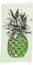 Mycha Ibiza – strandlaken – strandhanddoek – kikoy – ananas – groen – 100% katoen