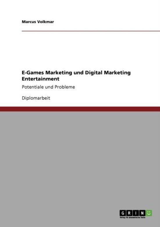 E-Games Marketing Und Digital Marketing Entertainment