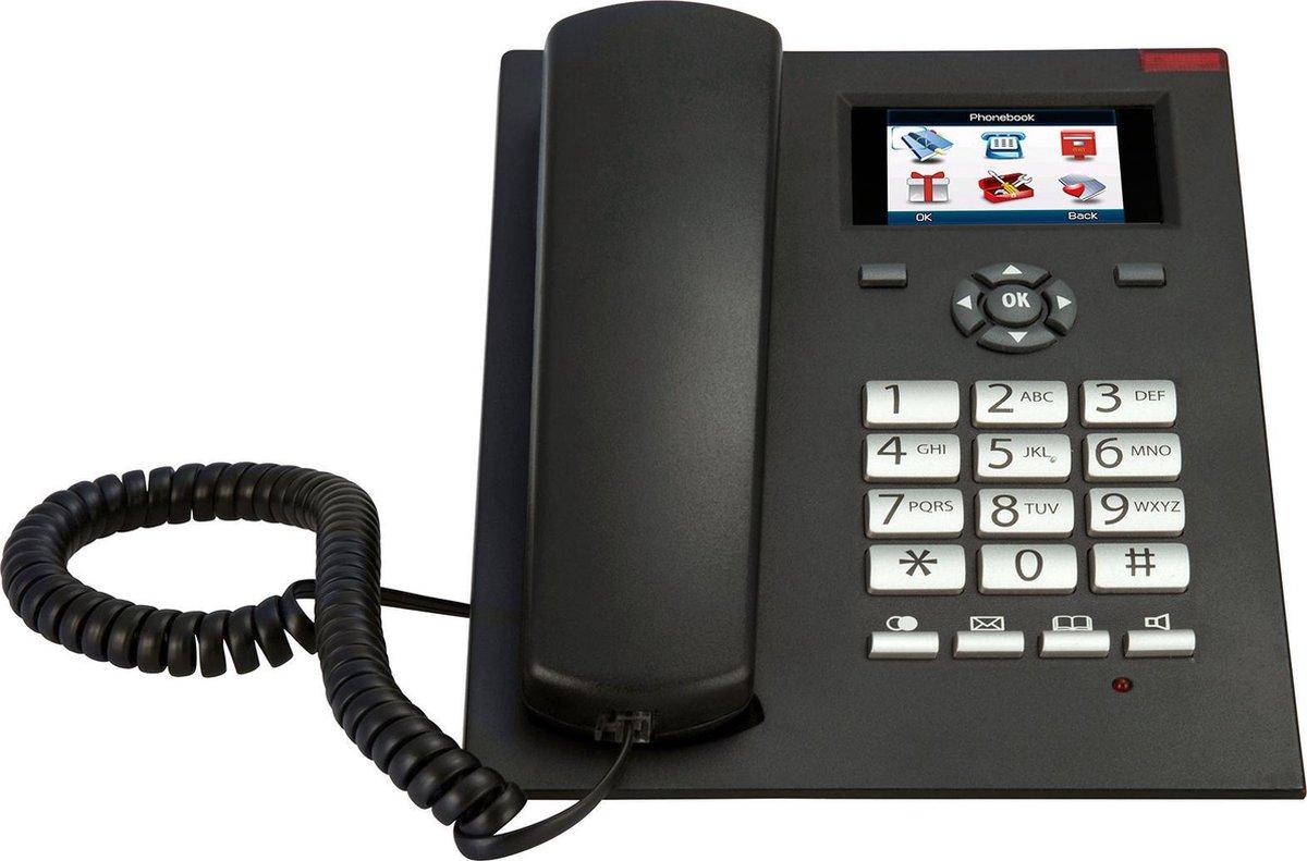 Fysic FM-2950 GSM bureautelefoon – Werkt via SIM kaart – Behoeft geen vaste aansluiting – Zwart