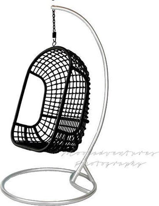 Hangstoel Met Standaard.Bol Com Hangstoel The Classic Zwart Met Standaard Metaal Rotan