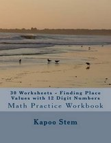 30 Worksheets - Finding Place Values with 12 Digit Numbers