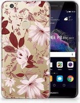 Huawei P8 Lite 2017 Uniek TPU Hoesje Watercolor Flowers