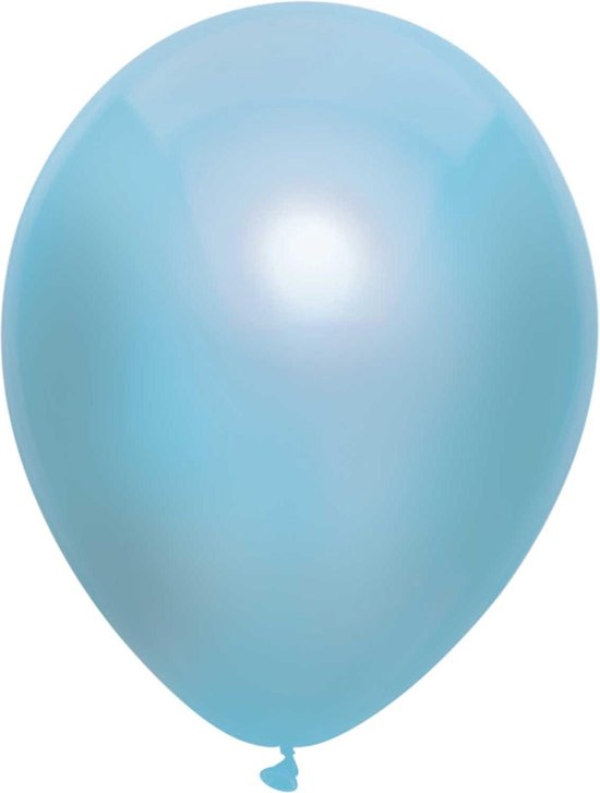 Haza Original Ballonnen Metallic Lichtblauw 10 Stuks