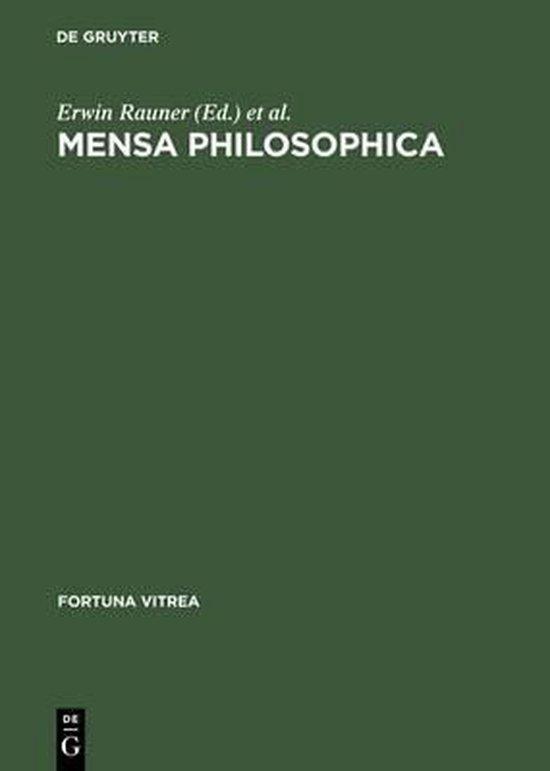 Boek cover Mensa philosophica van  (Hardcover)