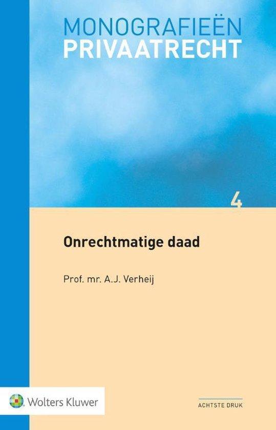 Boek cover Onrechtmatige daad van A.J. Verheij (Paperback)