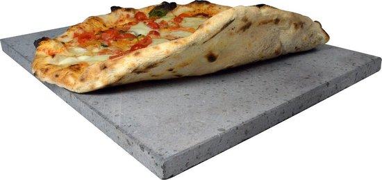 Afbeelding van Foodiletto Pizzasteen - 38x30,5 cm - bbq - barbecue - oven - gas - elektrisch - 100% natuurlijk materiaal - cadeau voor man