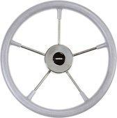 VETUS KS36 RVS Stuurwiel met grijze polyurethaan Hoepel Ø 36 cm