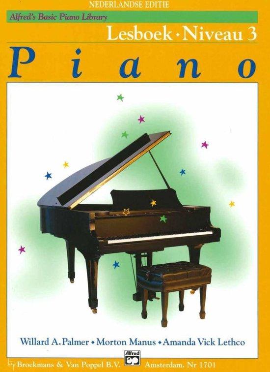 Boek cover Alfreds Basic Piano Library | Lesboek Niveau 3 van Willard A. Palmer / Morton Manus (Paperback)
