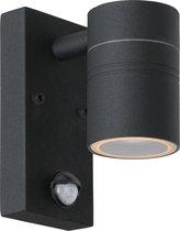 Lucide ARNE-LED Wandspot Buiten - Ø 6,3 cm - LED - GU10 - 1x5W 2700K - IP44 - Zwart