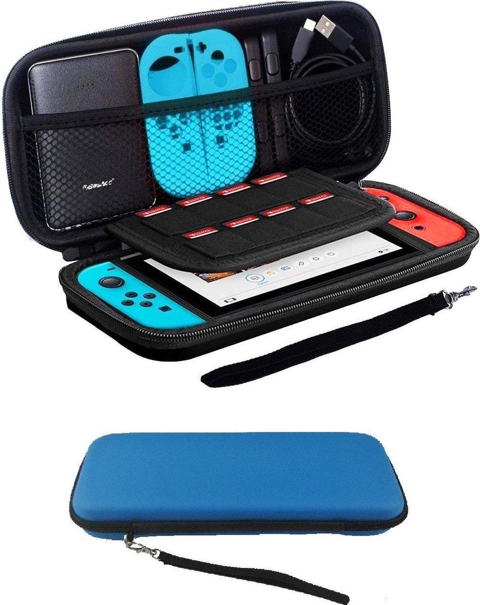 Bescherm Hoesje Geschikt voor Nintendo Switch Case Hard Cover - Blauw