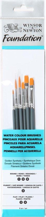 Afbeelding van Winsor & Newton Foundation aquarel korte penselen set 6 delig speelgoed