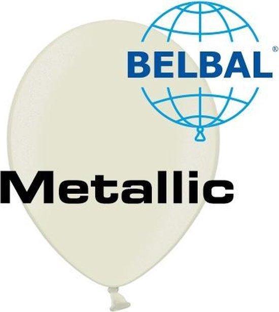 Ballonnen Metallic Ivoor D5 11 cm 100 stuks (Geen helium)