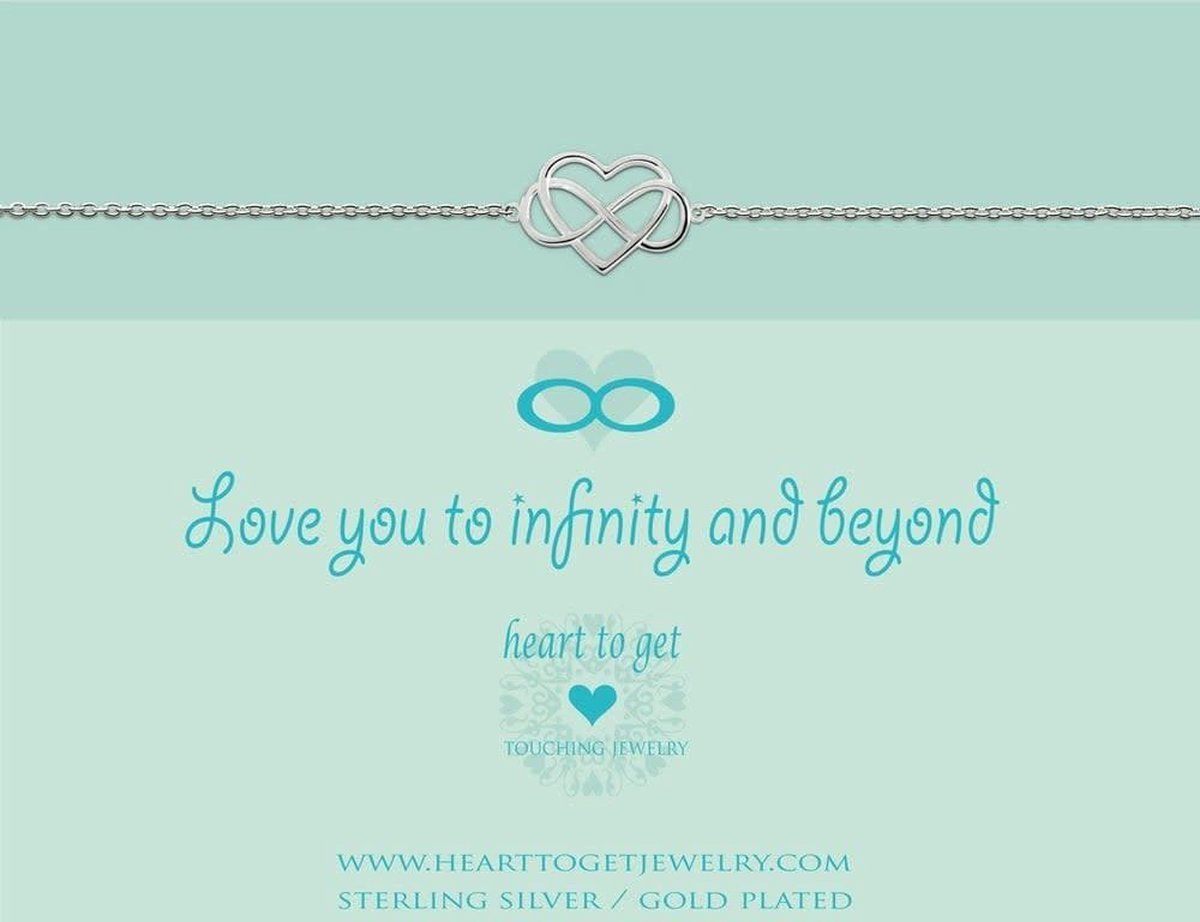 Heart to Get - Armband - Zilver - Infinity Hart (18-20 cm) - Heart to Get