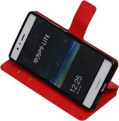 BestCases.nl Rood Huawei P9 Lite TPU wallet case booktype hoesje HM Book