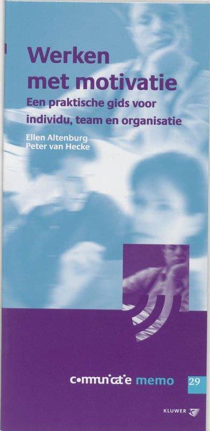 Cover van het boek 'Werken met motivatie / druk 1'