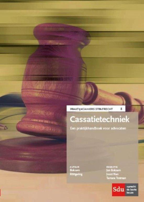 Praktijkcahier Strafrecht 8 - Cassatietechniek - Jan Boksem  