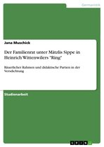 Der Familienrat unter Mätzlis Sippe in Heinrich Wittenwilers 'Ring'