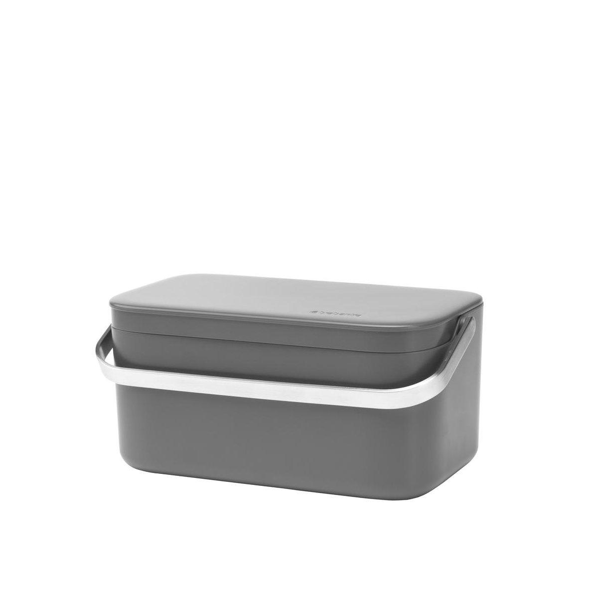 Brabantia Sink Side Aanrecht Afvalbakje - 1,8 liter - Dark Grey
