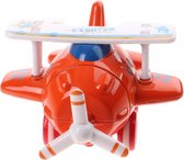 Kids Fun Mini Vliegtuig Fighter Rood 10 Cm