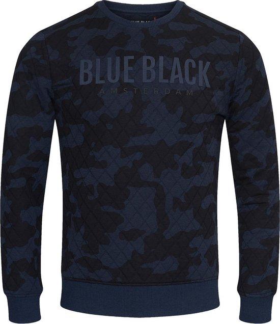 Blue Black Amsterdam Jongens Trui Mathijs 2.0 - Blauwe Camouflage - Maat 140