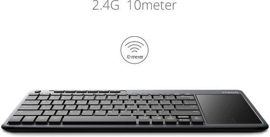 Rapoo K2600 draadloos toetsenbord touchpad multimedia TV PC