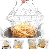 Magic Chef Basket Stoom Mandje  | 12 in 1 keuken accessoire | Opvouwbaar Kook Mandje RVS | Stoommandje Groente Stomer