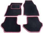 Bavepa Complete Premium Velours Automatten Zwart Met Roze Rand Volkswagen Sharan 1995-2006 (alleen voor)