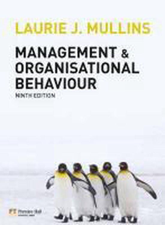 Boek cover Management And Organisational Behaviour van Laurie J. Mullins (Onbekend)
