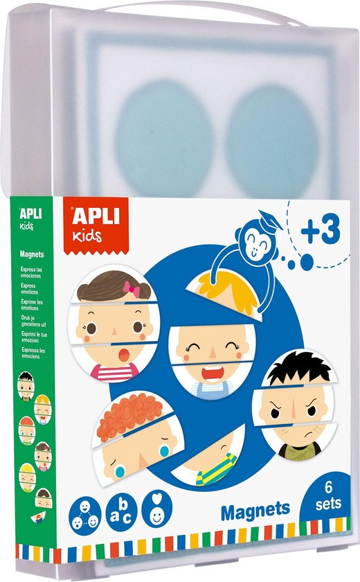Afbeelding van het spel Educatief magnetisch speelgoed - Emoties