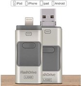 USB stick – flashdrive 64GB – voor iPhone Android en PC of Mac - Zilver