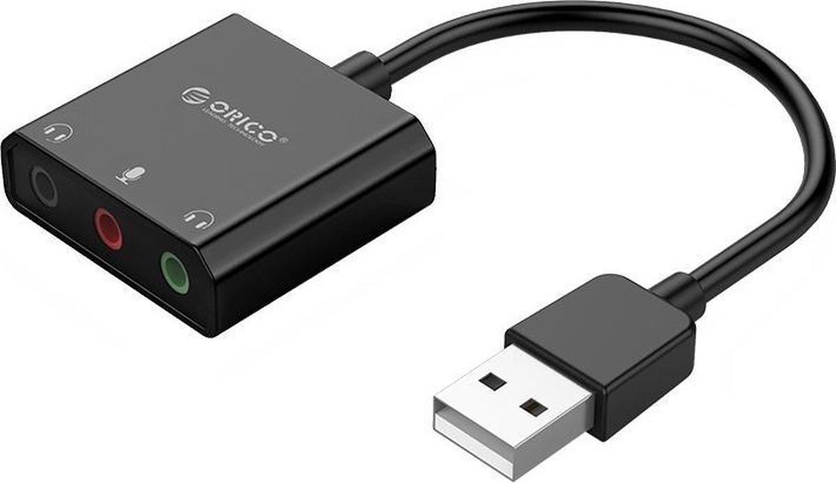 Orico Geluidskaart met koptelefoon, headset en microfoonpoort   - Zwart