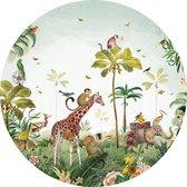 Pimpelmees muursticker Jungle Dieren - kinderkamer - babykamer - 120 cm