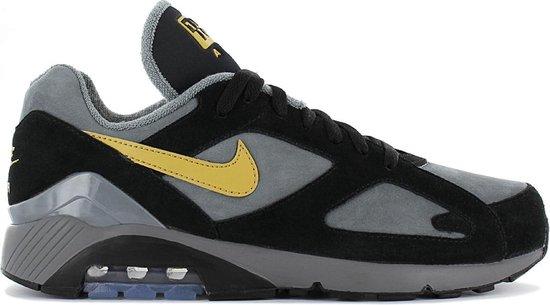 Nike Air Max 180 Leather AV7023-001 - Sneaker Sportschoenen Schoenen Grijs-Zwart - Maat EU 36.5 US 4.5