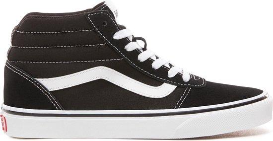 Vans Ward Hi Dames Sneakers - (Suede/Canvas)Black/White - Maat 39