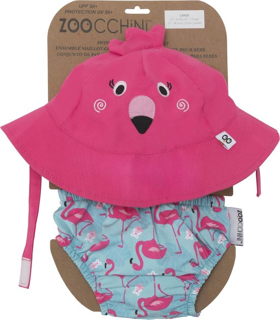 Zoocchini UV zwemluier setje Franny the Flamingo maat S