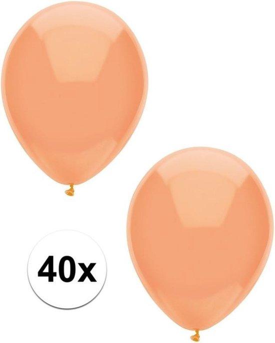 40x Perzik oranje metallic ballonnen 30 cm - Feestversiering/decoratie ballonnen perzik oranje