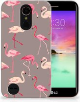LG K10 2017 Uniek TPU Hoesje Flamingo