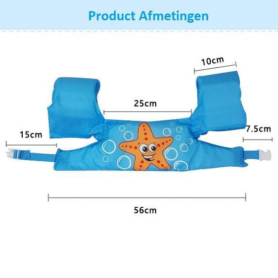 Zwemvest - Zeeschelp Roze Design - One Size - Kind - 14-30 KG - 3-7 Jaar