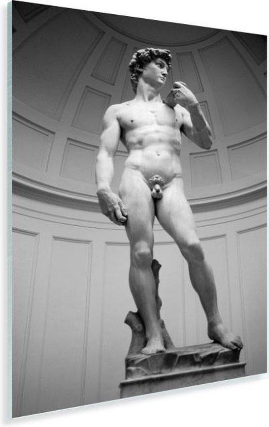 Michelangelo's standbeeld van David in Italië Plexiglas 20x30 cm - klein - Foto print op Glas (Plexiglas wanddecoratie)