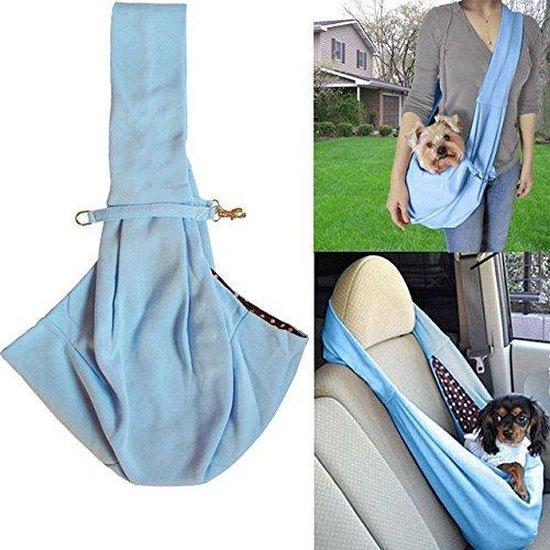 TKSTAR Hondendrager Baby Tas Nylon Reistas Belly Shoulder Carrier Voor Kleine Huisdieren Blauw