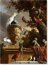 Graphic Message - Schilderij Print op Canvas - De Menagerie - d' Hondecoeter - Vogels - Woonkamer