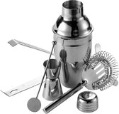 Luxe RVS Cocktailshaker Set Met Shaker / Lepel & Ijstang - Cocktail Gift Pakket