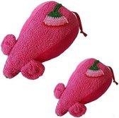 Fabs world Knuffelmuis – Pink (2 stuks)