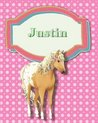 Handwriting and Illustration Story Paper 120 Pages Justin