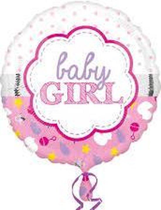 Helium Ballon Geboorte Meisje Baby Girl Wolk 43cm leeg